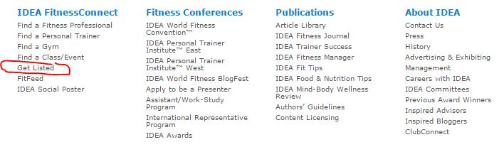 Personal trainer niche directories