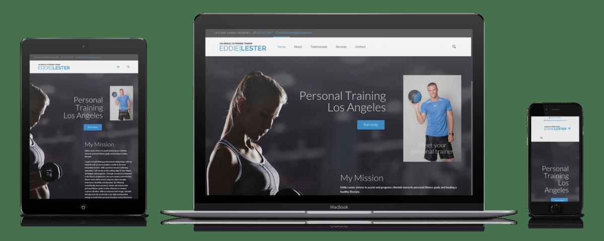 personal trainer website design