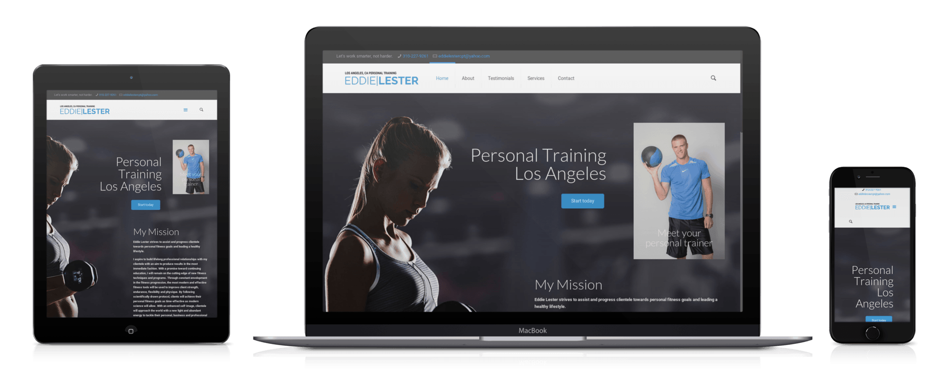 personal trainer website design