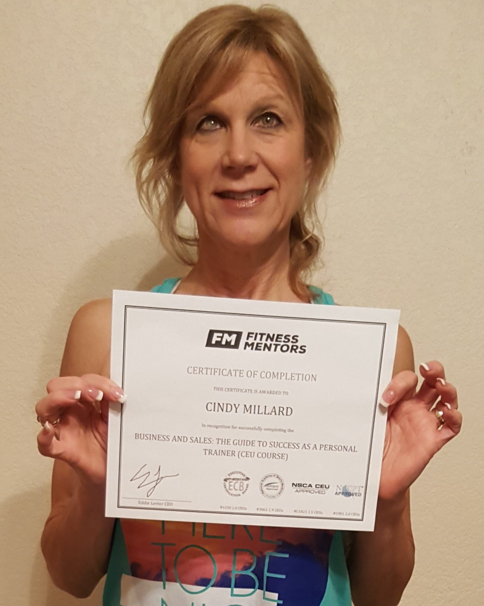 Issa ceu continuing education for personal trainers cindy millard xflitez Gallery