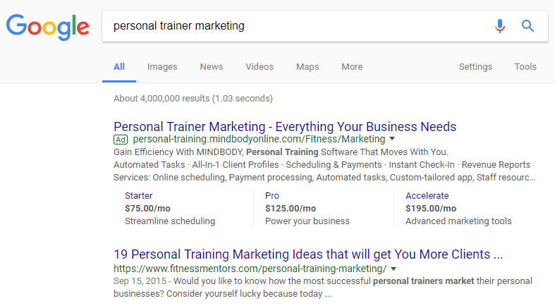 SEO for online personal trainers